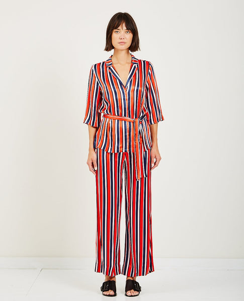 JUST FEMALE MYNTE KIMONO FIERY STRIPE