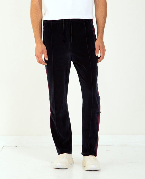 NEEDLES Narrow Track Pant Poly Velour Navy