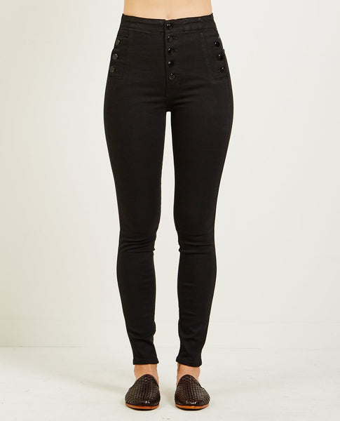 J BRAND NATASHA SKY HIGH SKINNY JEAN SERIOUSLY BLACK