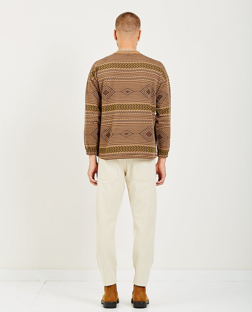 REMI RELIEF-NATIVE PRINT SWEATSHIRT-Men Sweaters + Sweatshirts-{option1]