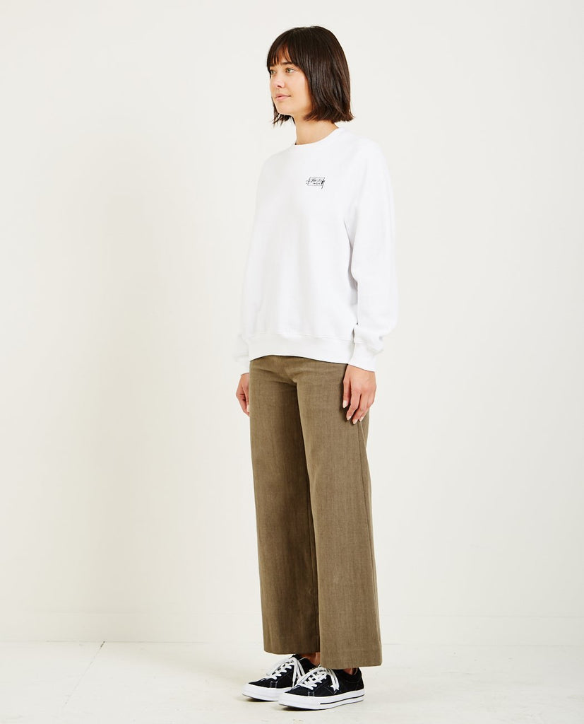 STUSSY-NELSON CREW NECK FLEECE-Women Sweaters + Sweatshirts-{option1]