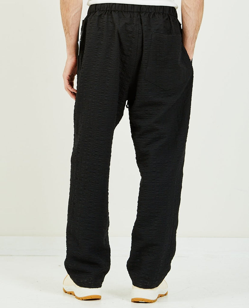 Nest Pant Black Puckered-SK MANOR HILL-American Rag Cie