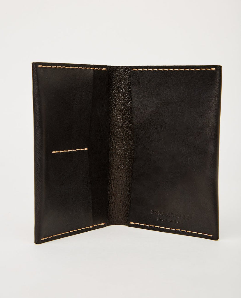No. 5 Passport Wallet Jet Top Stitch-EZRA ARTHUR-American Rag Cie
