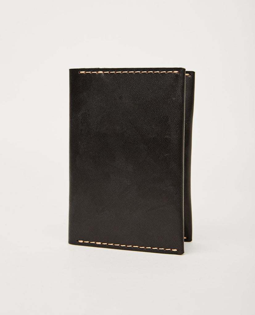 EZRA ARTHUR-No. 5 Passport Wallet Jet Top Stitch-Men Wallets-{option1]