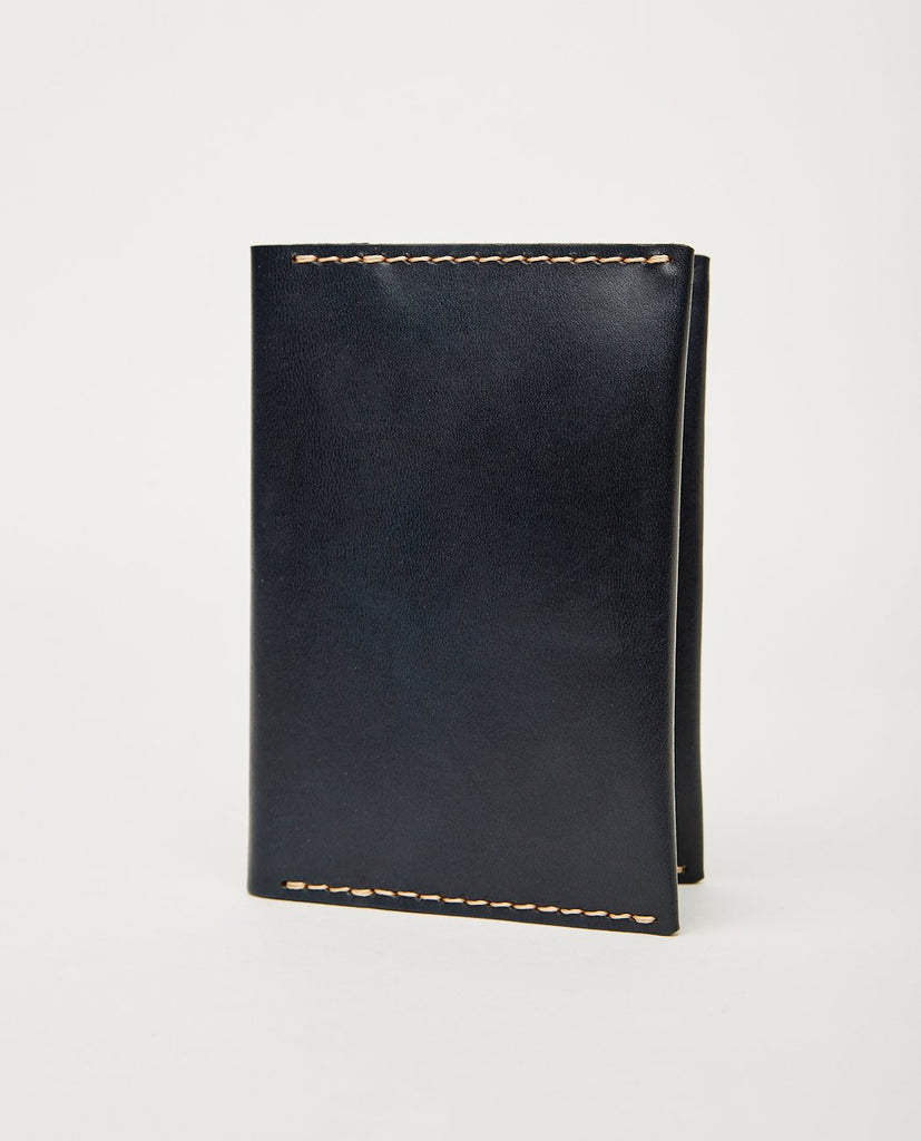 EZRA ARTHUR No. 5 Passport Wallet Navy