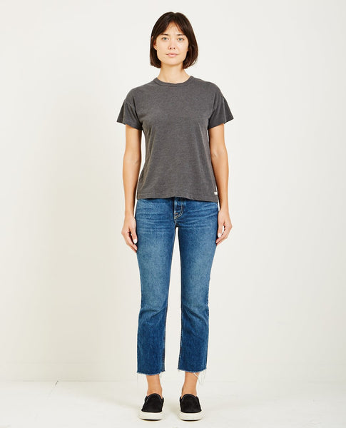 AR321 Oatmeal Boxy Short Sleeve Tee Charcoal