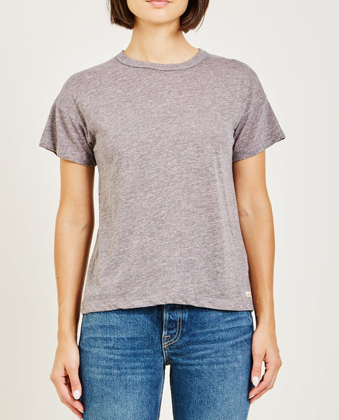 AR321 OATMEAL BOXY SHORT SLEEVE TEE POWDER PINK