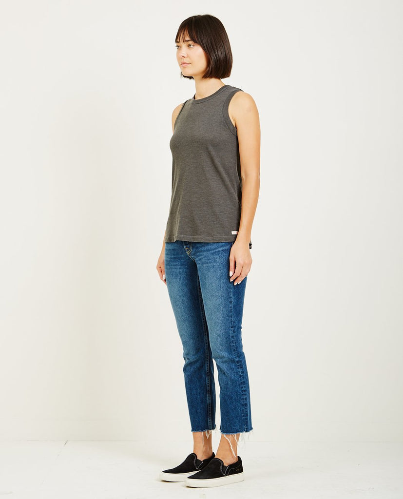 AR321-Oatmeal Muscle Tee Charcoal-Women Tees + Tanks-{option1]