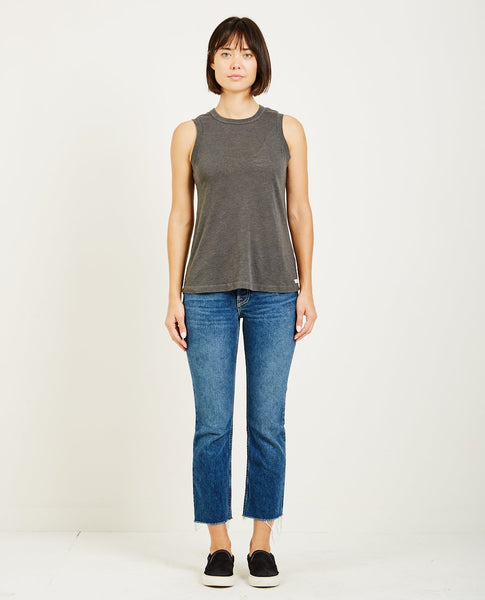 AR321 OATMEAL MUSCLE TEE CHARCOAL