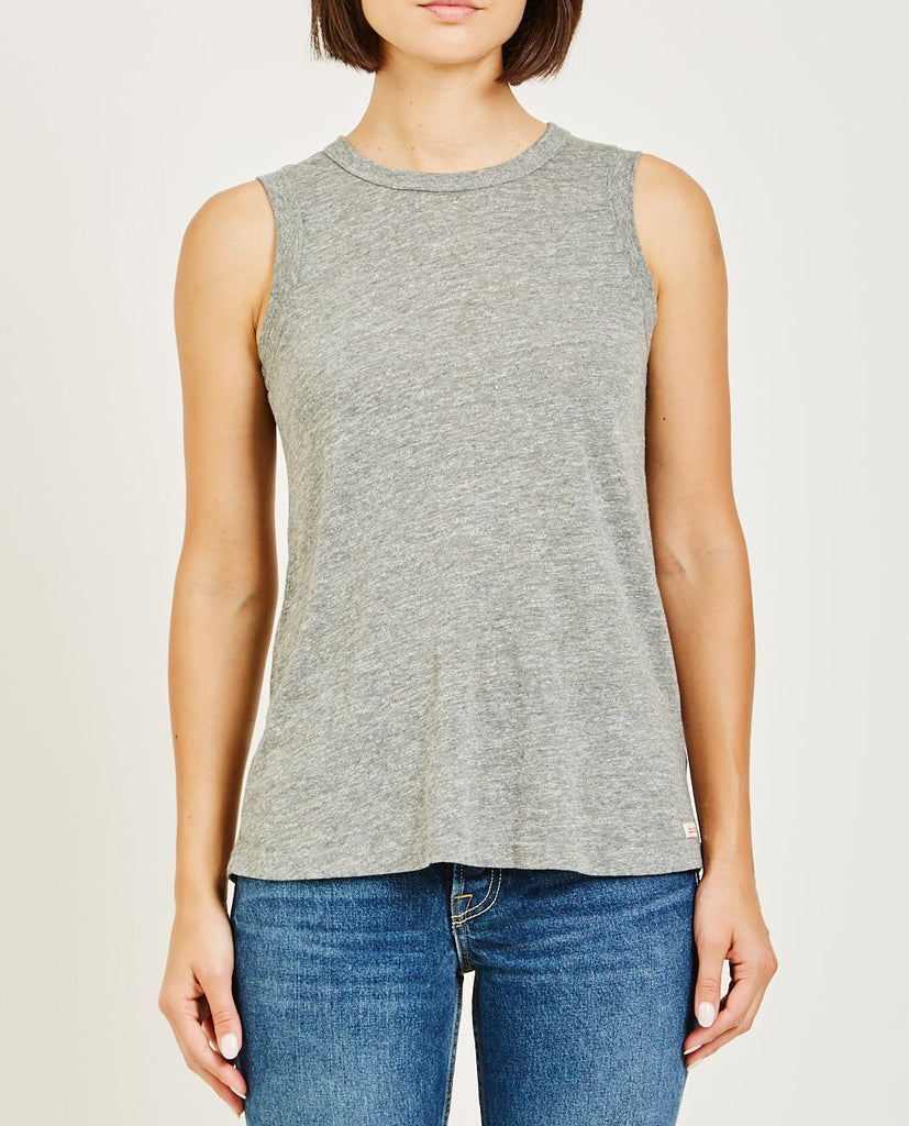 AR321-OATMEAL MUSCLE TEE HEATHER GREY-Women Tees + Tanks-{option1]