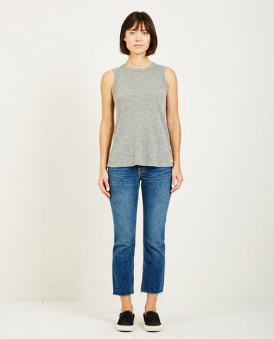 RICHER POORER Boxy Crop Tee Grey