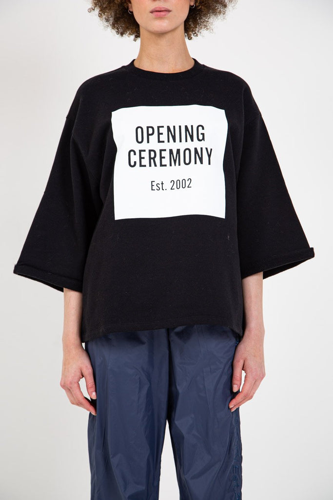 OC LOGO CUT-OFF SWEAT TEE-OPENING CEREMONY-American Rag Cie