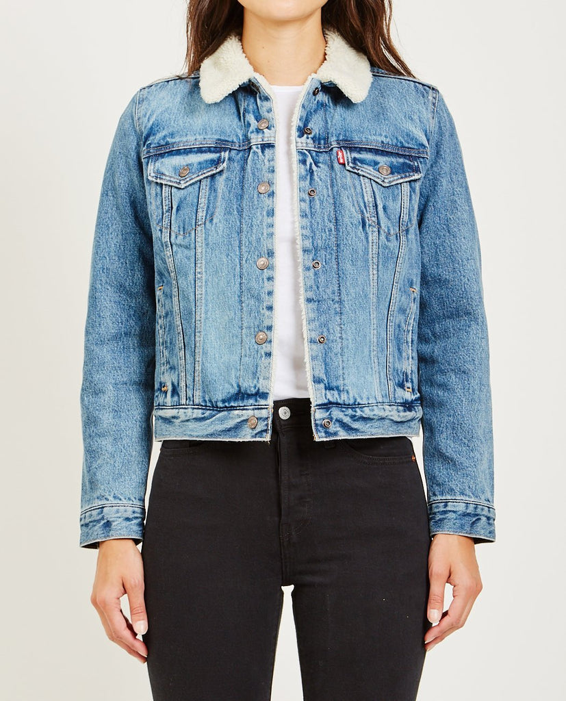 OG SHERPA TRUCKER JACKET IN EXTREMELY LOVEABLE-LEVI'S-American Rag Cie