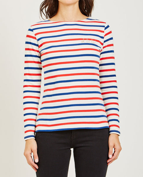 MAISON LABICHE OH LA LA LONG SLEEVE SAILOR TEE
