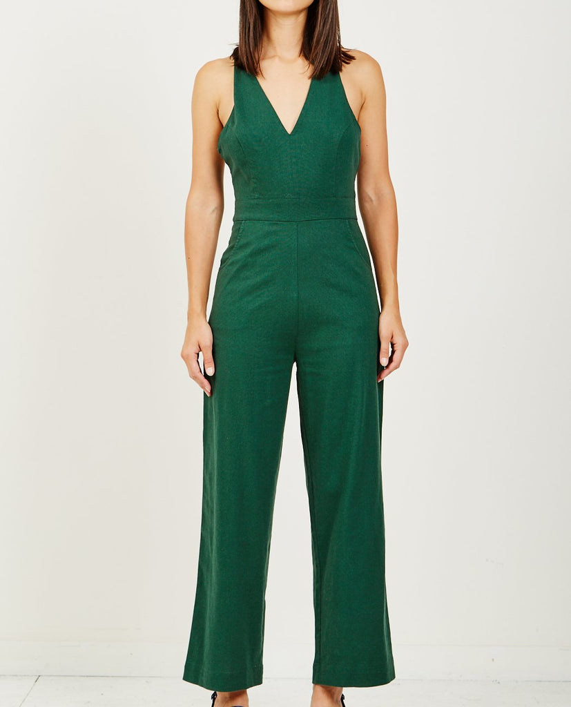 ROLLA'S-OLD MATE LINEN JUMPSUIT-All-In-One-{option1]