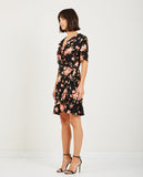JUST FEMALE-OLINE WRAP DRESS COLE AOP-SALE Dresses-{option1]