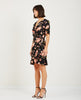 OLINE WRAP DRESS COLE AOP-JUST FEMALE-American Rag Cie