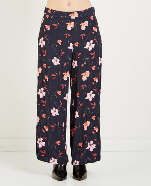 JUST FEMALE OLIVIA FLORAL PRINTED TROUSERS
