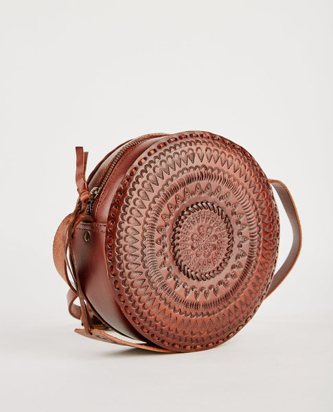 R.P.S. OLIVIA TOOLED LEATHER CROSS BODY BAG