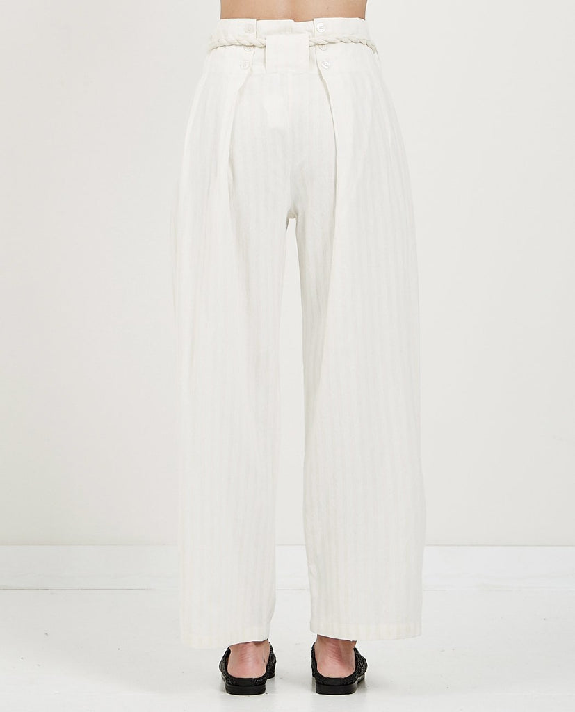 MES DEMOISELLES-OLYMPIC ROPE TIE PANTS-Women Pants-{option1]