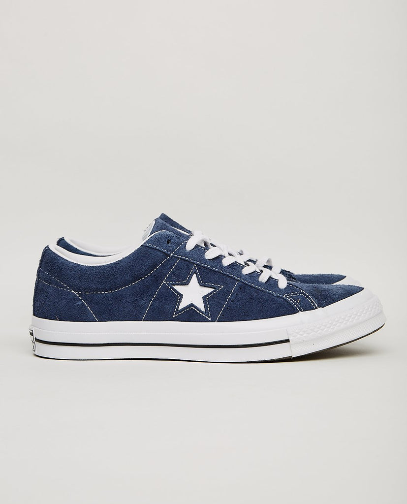 CONVERSE-ONE STAR LOW NAVY-Men Sneakers + Trainers-{option1]