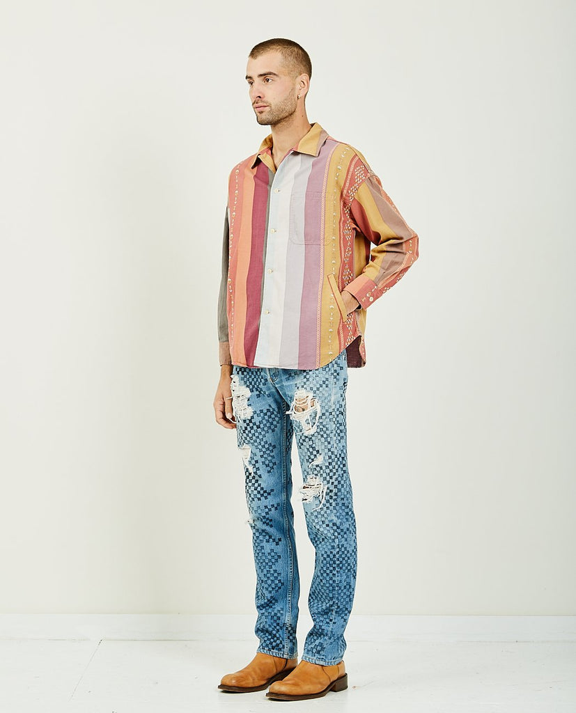OR MOTIF MULTI STRIPED SHIRT-REMI RELIEF-American Rag Cie