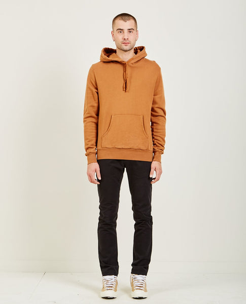 AR321 OVER DYE PULLOVER HOODIE RUST ORANGE