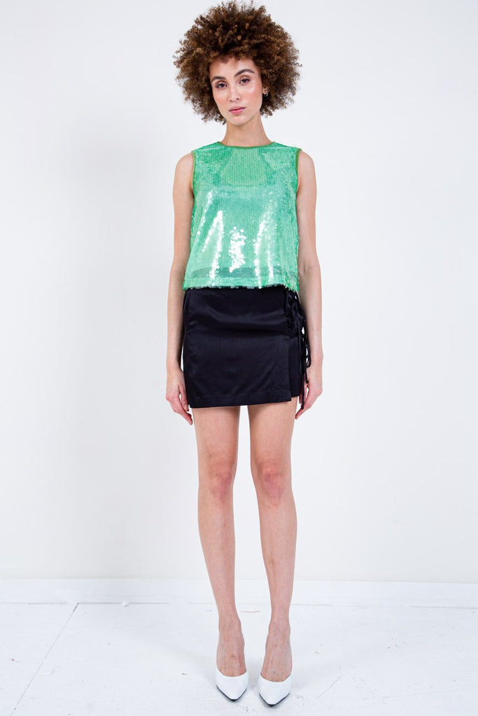 OPENING CEREMONY-PAILLETTE TANK-Women Tees + Tanks-{option1]