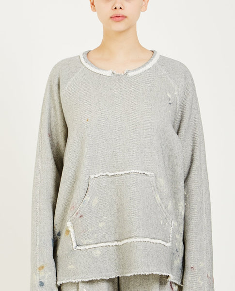 RAQUEL ALLEGRA PAINTED TUNIC SWEATSHIRT