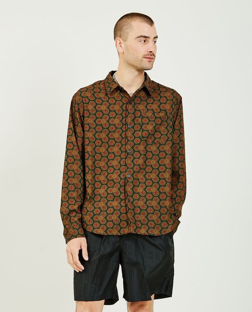 STUSSY-Paisley Pattern Shirt-Men Shirts-{option1]