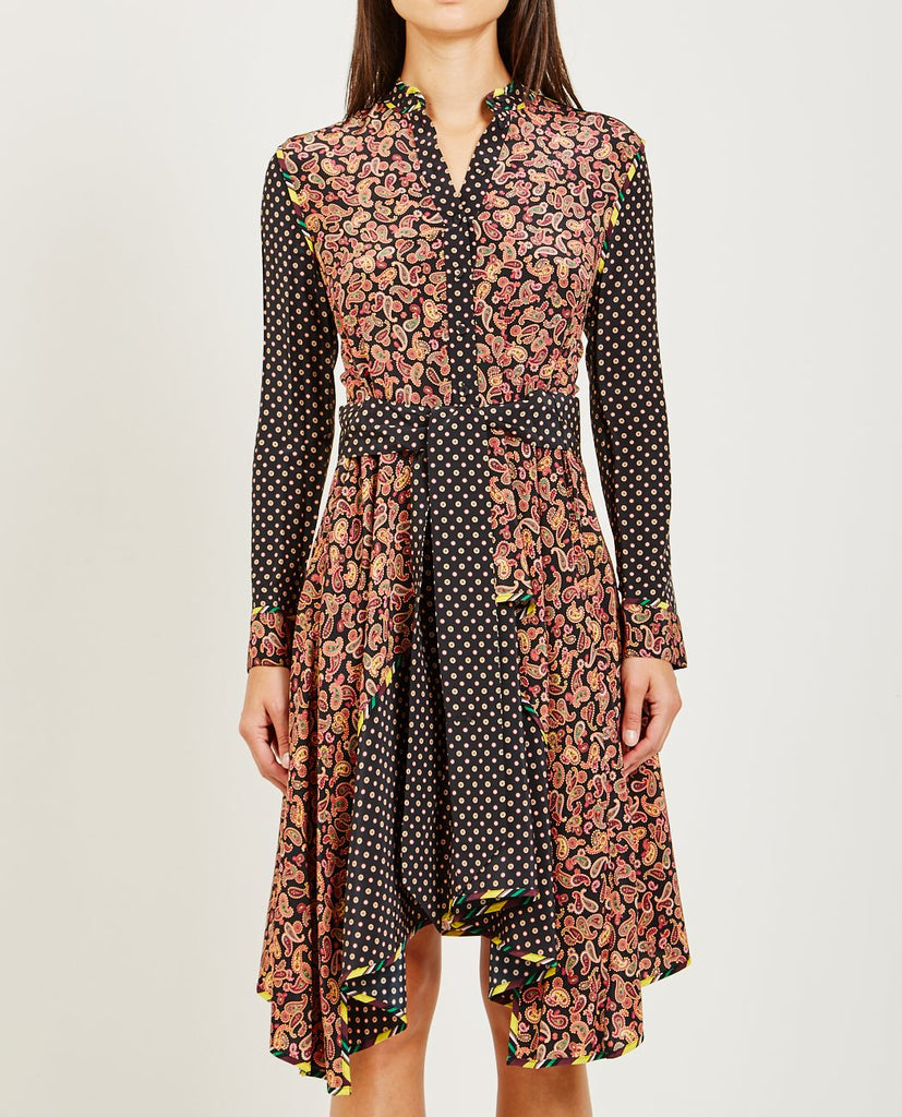 OPENING CEREMONY-PAISLEY PRINT SILK DRESS-Dresses-{option1]