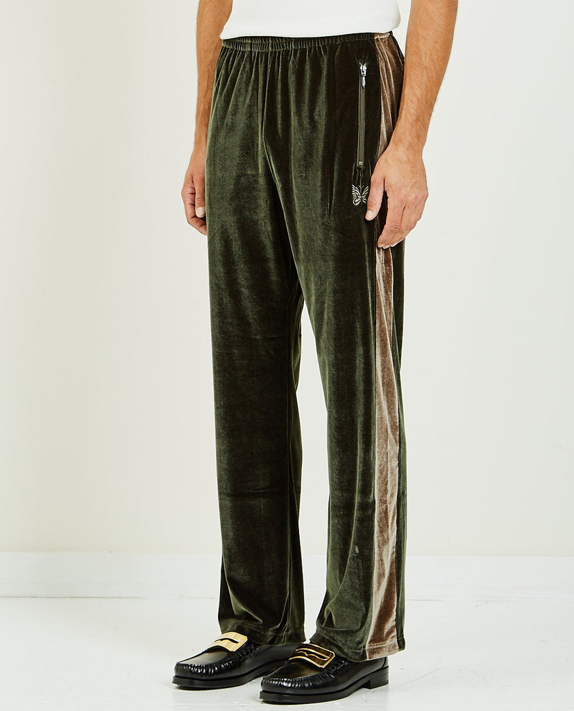 PAPILLON EMBROIDERED SIDE LINE TRACK PANT-NEEDLES-American Rag Cie