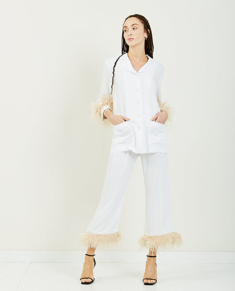 SLEEPER Party Pajama Set With Feathers