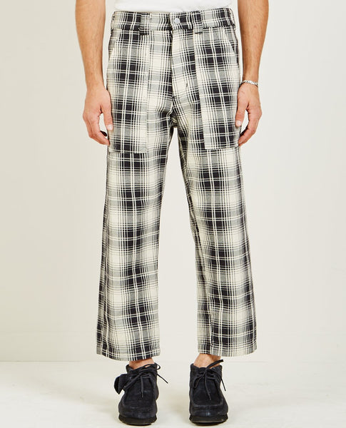 BILLY LOS ANGELES PATCH POCKET PANT BLACK & WHITE PLAID