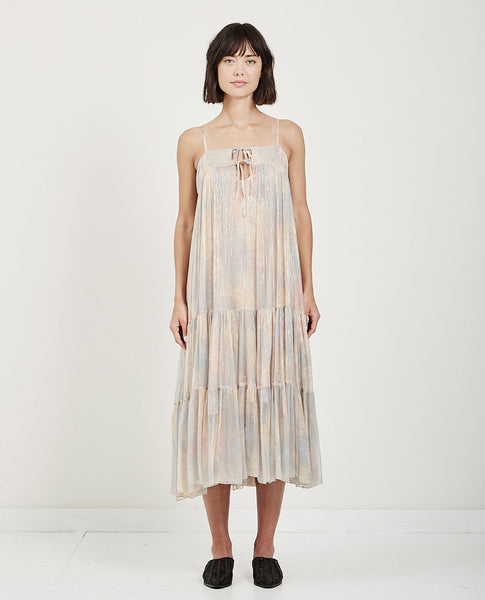 MES DEMOISELLES PAVOT PASTEL TIERED DRESS