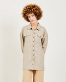JUST FEMALE-Pearl Long Shirt-SUMMER20 Blouses-{option1]