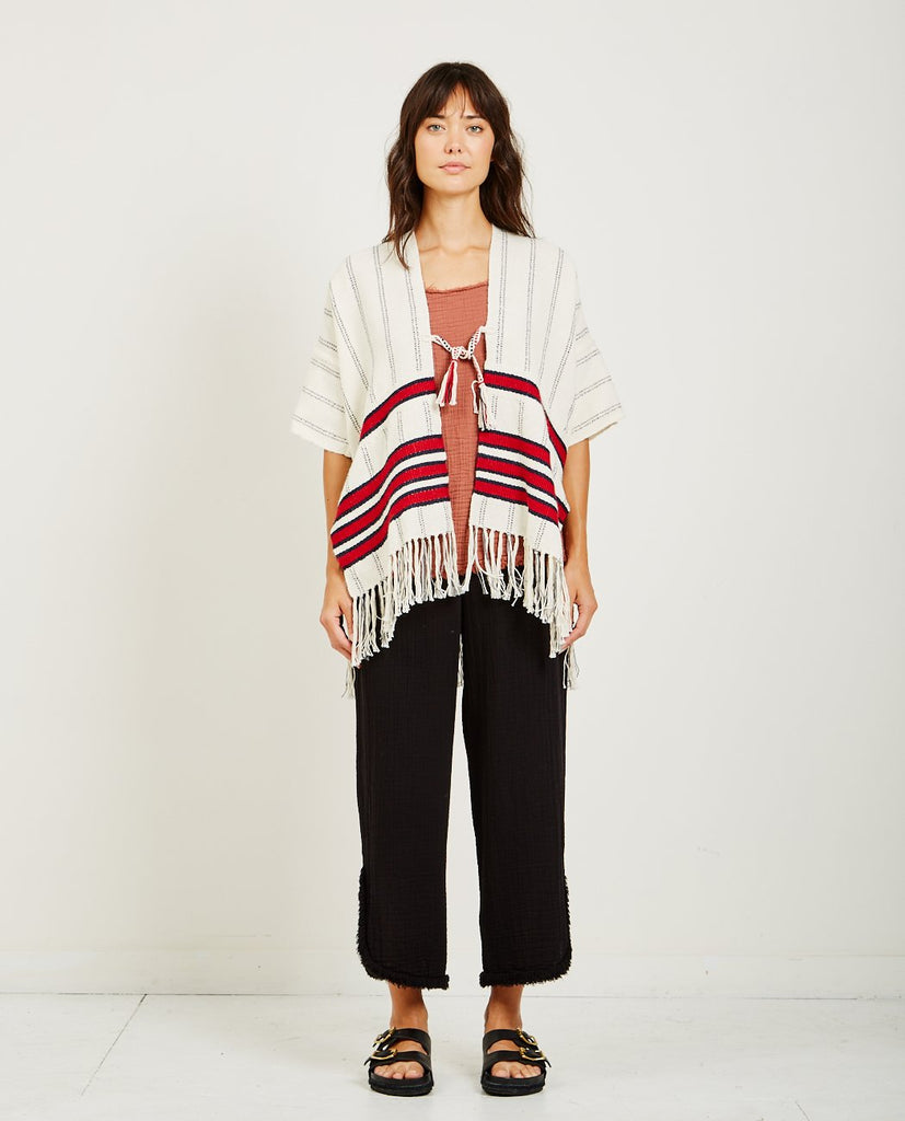 RAQUEL ALLEGRA-PERUVIAN WEAVES PONCHO-Women Coats + Jackets-{option1]