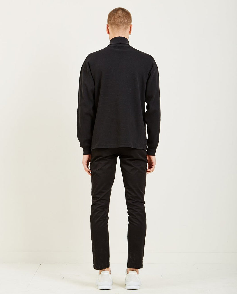 WHOLE-PG WAS HERE THERMAL TURTLENECK BLACK-Men Sweaters + Sweatshirts-{option1]