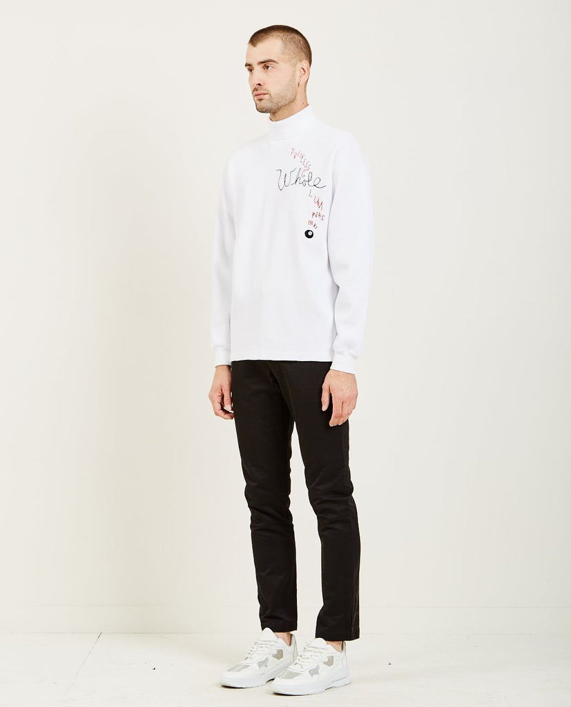 WHOLE-PG WAS HERE THERMAL TURTLENECK WHITE-Men Sweaters + Sweatshirts-{option1]