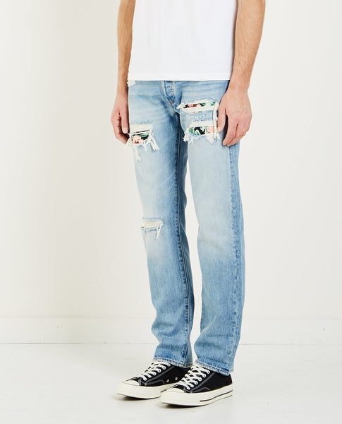LEVI'S PIECED HAWAIIAN INDIGO 501 JEAN