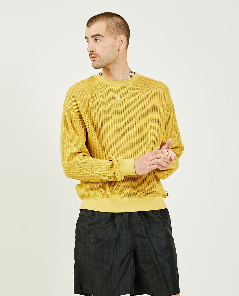 STUSSY-Pigment Dyed Cotton Mesh Sweater-Men Sweaters + Sweatshirts-{option1]