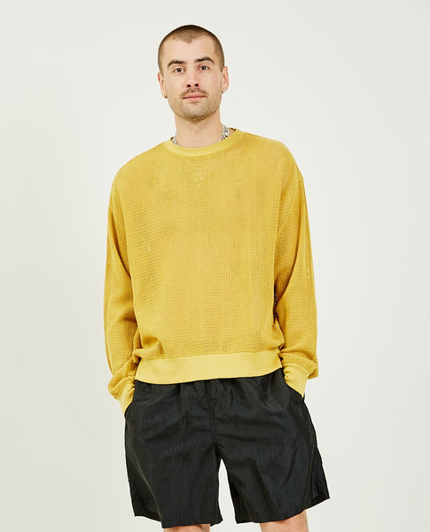 STUSSY Pigment Dyed Cotton Mesh Sweater