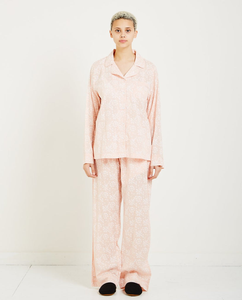 DAWSON & HELLMAN-PILLS WALLPAPER PRINTED PAJAMAS-Women Nightwear-{option1]