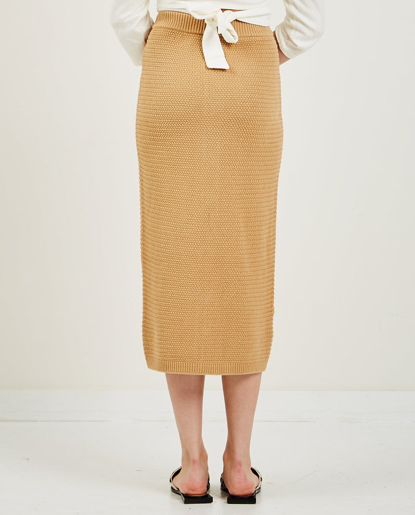 TRIAA-Pique Knit Long Skirt-SUMMER20 LADPAN-{option1]