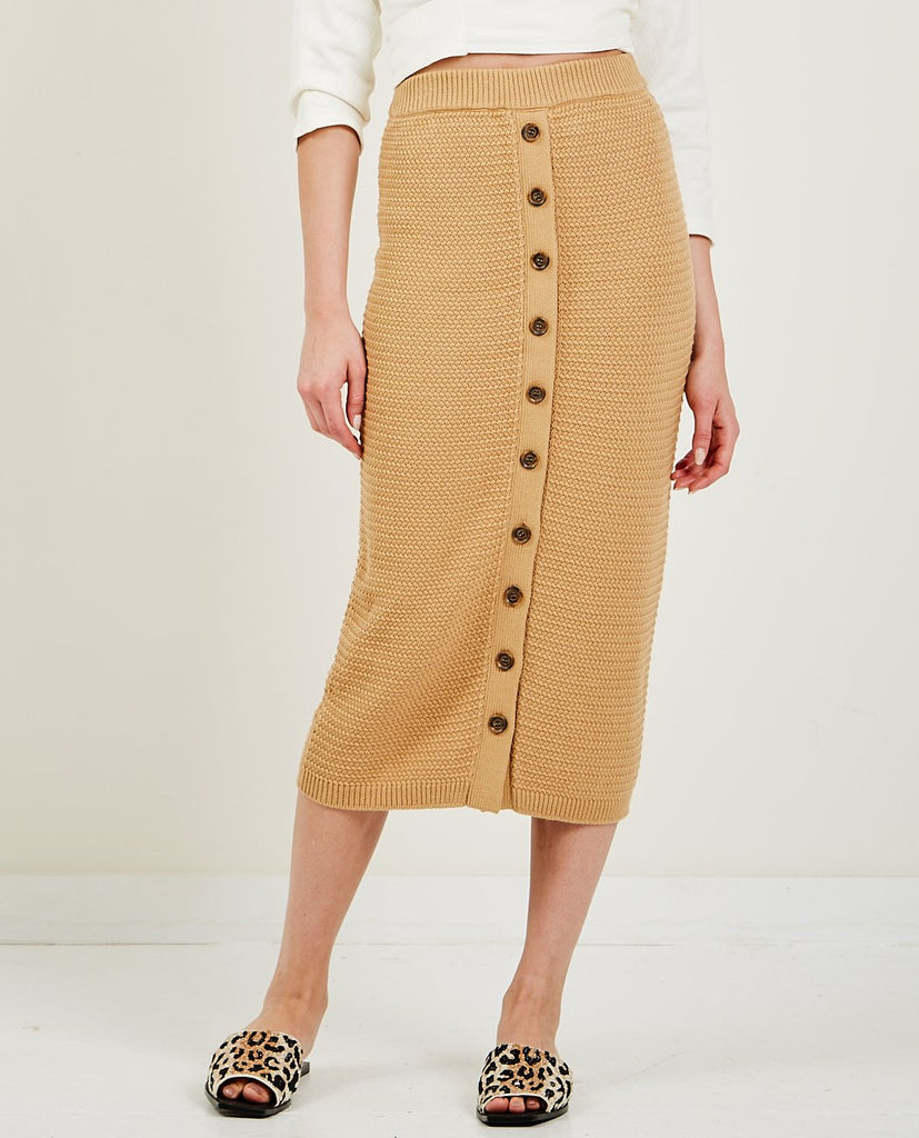 TRIAA-Pique Knit Long Skirt-SUMMER20 SKIRTS-{option1]