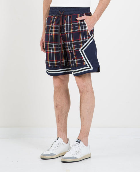 NORWOOD CHAPTERS PLAID BASKETBALL SHORT