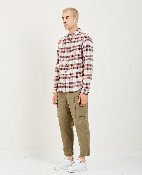 ALEX MILL PLAID PATCH AND FLAP FLANNEL