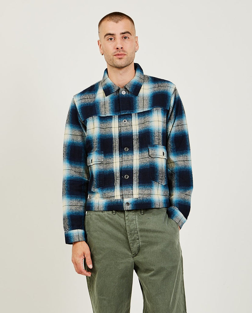 RRL-Plaid Shirt Jacket-Men Shirts-{option1]