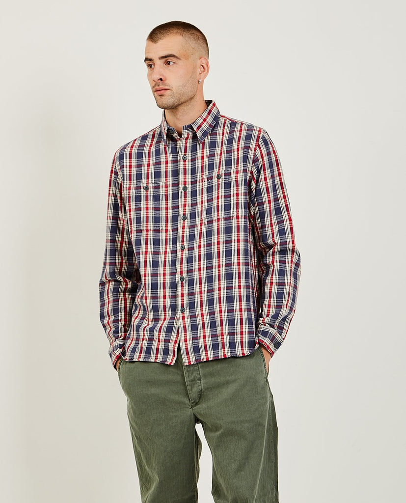 Plaid Twill Workshirt-RRL-American Rag Cie