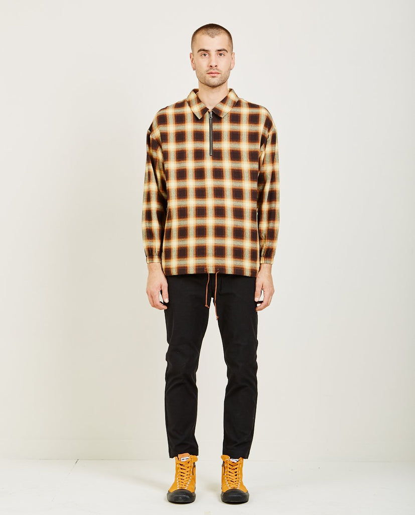 CANDOR PLAID ZIP PULLOVER SHIRT